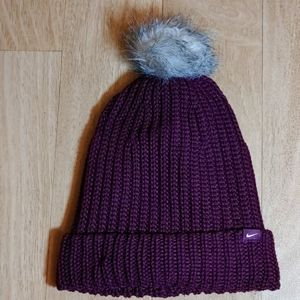 Nike pom pom knit winter hat